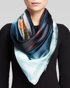 Weston Molten Agate Silk Scarf | Bloomingdale's