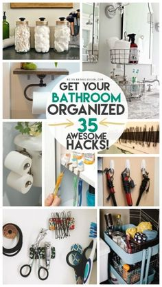 get your bathroom completely organized with these 35 awesome hacks to whip your space into shape!get your bathroom completely organized with these 35 awesome hacks to whip your space into shape! Organisation Hacks, Organizing Hacks, Organizing Your Home, Closet Organization, Cleaning Hacks, Bathroom Counter Organization, Small Home Organization, Target Organization, Medicine Organization