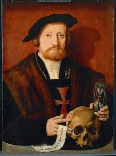 """""""Portrait of a Knight"""", 1531, by Barthel Bruyn the Elder (German, 1493-1555)."""