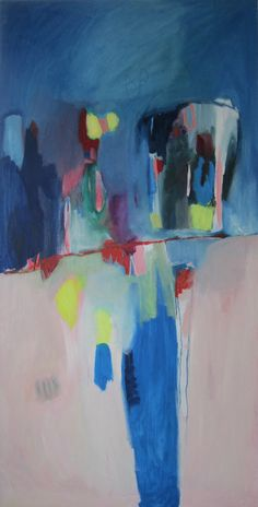 LARGE ABSTRACT PAINTING oil painting blue flesh by LolaDonoghue, $2500.00