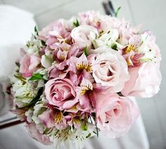 Buquês de noiva com rosas – Tendências 2014