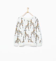 Giraffes sweatshirt from Zara $25.90