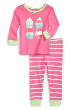 Little Me 'Cupcakes' Two-Piece Pajamas (Baby Girls) available at #Nordstrom