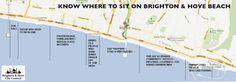 Where to sit on Brighton Beach