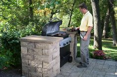 """Receive great pointers on """"outdoor kitchen countertops grill area"""". They are actually offered for you on our website. Backyard Kitchen, Outdoor Kitchen Design, Backyard Patio, Pergola Patio, Outdoor Kitchens, Outdoor Grill Area, Bbq Area, Outdoor Grill Station, Outdoor Barbeque"""