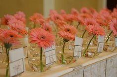 mini fish bowls and daisies