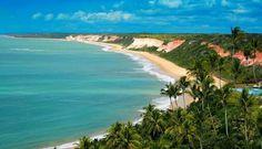 Praia Pitinga em Arraial d'Ajuda, BA, Brasil