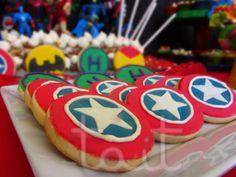 Capitan America  #Cookies #CapitanAmerica Babyshower, Sugar, Cookies, Desserts, Food, Food Cakes, Events, Crack Crackers, Tailgate Desserts