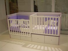 Twin Baby Beds, Baby Cribs For Twins, Twin Baby Rooms, Twin Baby Girls, Nursery Twins, Baby Bedroom, Twin Babies, Baby Nursery Furniture, Kids Bedroom Ideas