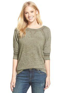 Caslon® Burnout Sweatshirt (Regular & Petite) available at #Nordstrom
