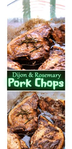 Dijon & Rosemary Marinaded Pork Chops