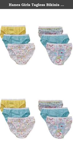 Hanes Girls Tagless Bikinis (12-Pack). Hanes Girls Bikinis will have your little one feeling confident and comfortable.