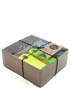Make wrapping easy this year! This Black Tag and Twine Box comes with plenty of tags and twine to wrap all your presents. $20