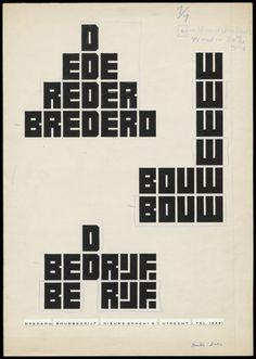 Jurriaan Schrofer - Sketch for Bredero Bouwbedrijf (Bredero Builders), 1959