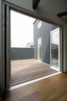 Patio, Backyard, 3d House Plans, Living Room Designs, Balcony, Indoor Outdoor, House Design, Flooring, Bedroom