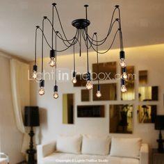 ljuskrona Vintage Design glödlampor ingår levande 10 lampor - SEK Kr. 927