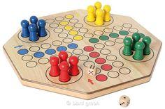 Bartl, XL-Ludo doppelseitig (4/6 Spieler), Besonders großes und exklusives Gesellschaftsspiel aus Holz für 2 - | 110281 / EAN:8716096011135
