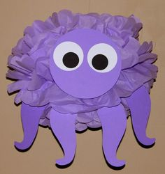 Octopus tissue paper pom pom kit under the sea ocean water mermaid decoration on Etsy, $9.99