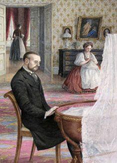 """Angela Barrett : """"Karenin felt quite calm"""" // Illustration for Anna Karenina by Leo Tolstoy, 2008"""