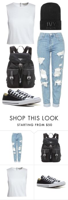 """Untitled #81"" by marija-jozic on Polyvore featuring Topshop, Prada, Canvas by Lands' End, Converse and Ivy Park"