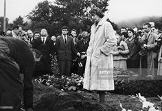 Anne Philipe, Wife Of The French Actor Gerard Philipe, During Her Husband'S Funeral In Ramatuelle, On November 28, 1959.