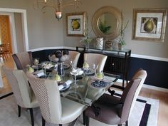 dining room color two tone - Google Search