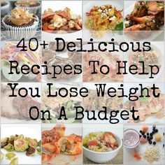 Healthy low calorie meals on a budget. Great resource!