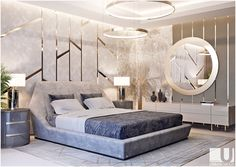 Modern Luxury Bedroom Inspirations - Home Design - lmolnar - Best Design and Decoration You Need Modern Luxury Bedroom, Luxury Bedroom Design, Master Bedroom Design, Contemporary Bedroom, Luxurious Bedrooms, Girls Bedroom, Master Suite, Bedroom Designs, Interior Modern