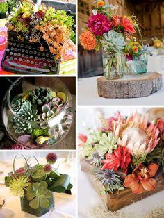 Martha Stewart succulents | Wedding trend:  succulent