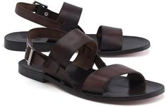881bdd0ce06 Men s Leather Strap Sandals by Brooks Brothers. Genuine leather with  leather lining and soles.