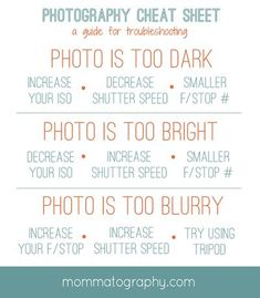 mommatography Free Printable Photography Cheat Sheet for Troubleshooting – www.mommatography… More from my siteBlende & Zeitautomatik erklärt Fotografie Cheat Sheet Blende und Zeitautomatik AVMore cheat sheets!A Beginners Guide to Manual Photography