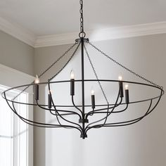 Check out Minimal Praxis Chandelier from Shades of Light Dinning Room Chandelier, Black Chandelier, Contemporary Chandelier, Chandelier Shades, Modern Hanging Lights, Entryway Lighting, Rustic Lighting, Lighting Ideas, Family Dining Rooms