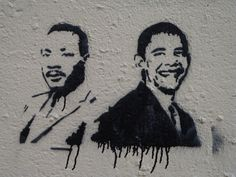january 21, 2013:  inauguration on mlk day (image: chicago street art, artist unknown, via a picture of politics)