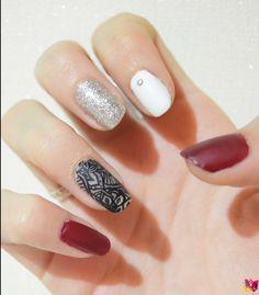 Nail art Lace Mandala