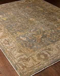 """""""Cool Blue Oushak"""" Rug at Horchow."""