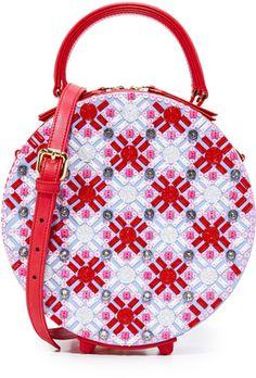Mayra Fedane Swarovski Embroidered Coco Circle Bag