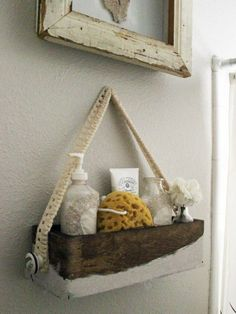 Make a Chic Bath Caddy for Guests - on HGTV