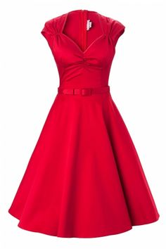Pinup Couture - Heidi dress in Red Sateen- stunning