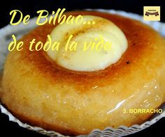 Con el número 3.... el bizcocho borracho. Tiene tantos padres como recetas, pero la bilbaína, la nuestra de toda la vida, es la que junta el bizcocho almibarado con una corona de crema pastelera. Continúa sin ser justamente ponderado, pero es un bocado exquisito. #pasteles #pastelería #Bilbao #Urrestarazu #envioadomicilio #ventaonline #bizcochoborracho #debilbaodetodalavida