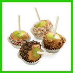 Mini carmel apples