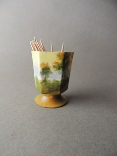 Antique Glass Toothpick Holder Antique Tableware by nonniesporch