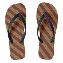 Fashion Stripe Flip Flops