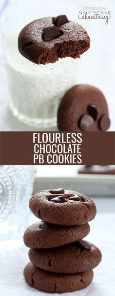 These flourless chocolate peanut butter breakfast cookies are gluten free, grain free, dairy free, packed with protein and a great start to the day!