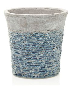 Look what I found on #zulily! Blue Hayes Pot by Accent Décor #zulilyfinds