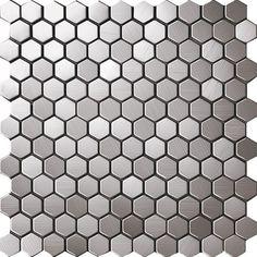 China Honeycomb Hexagon brushed metal tile for kitchen backsplash D6-006-1(China…