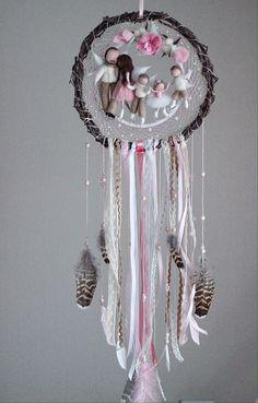 Cute Crafts, Felt Crafts, Diy And Crafts, Mobiles For Kids, Diy Angels, Dream Catcher Craft, Fairy Gifts, Felt Fairy, Baby Keepsake