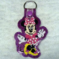 Mrs. Mouse Key Fob  Machine Embroidery Pattern by WhimsyDolls