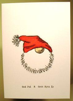 Gummiapan : Julkort / Christmas cards - Happy Christmas - Noel 2020 ideas-Happy New Year-Christmas Christmas Cards Drawing, Painted Christmas Cards, Christmas Doodles, Watercolor Christmas Cards, Christmas Card Crafts, Homemade Christmas Cards, Watercolor Cards, Christmas Art, Christmas Decorations