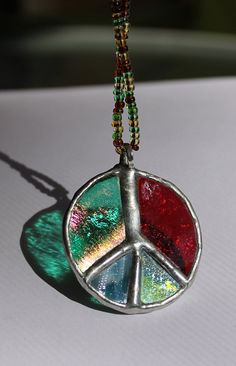 Stained Glass Pendant  free shipping  light catching by myminiart