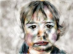 Geschilderd portret van Dide #Paper